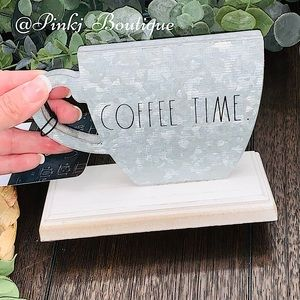 💗🏡RAE DUNN {COFFEE TIME} Metal Shaped Sign Decor